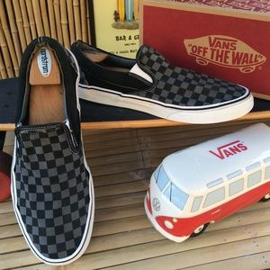 Vans Classic Canvas Slip On Checkerboard Sneakers